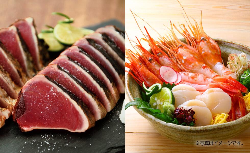 「梅」鰹塩たたき・刺身海鮮セット