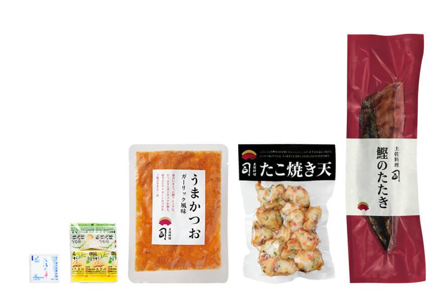 塩たたき+たこ焼天セット(うまかつお付)