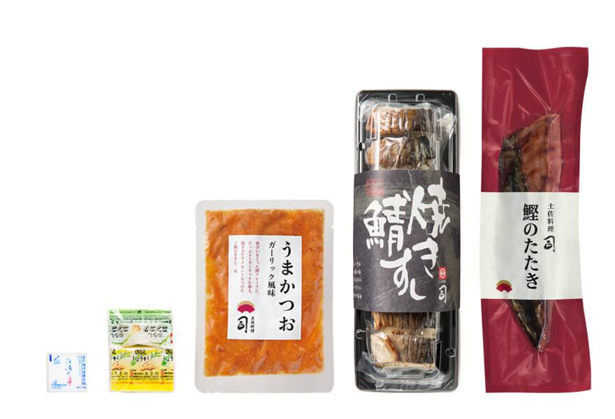塩たたき+焼き鯖すしセット(うまかつお付)
