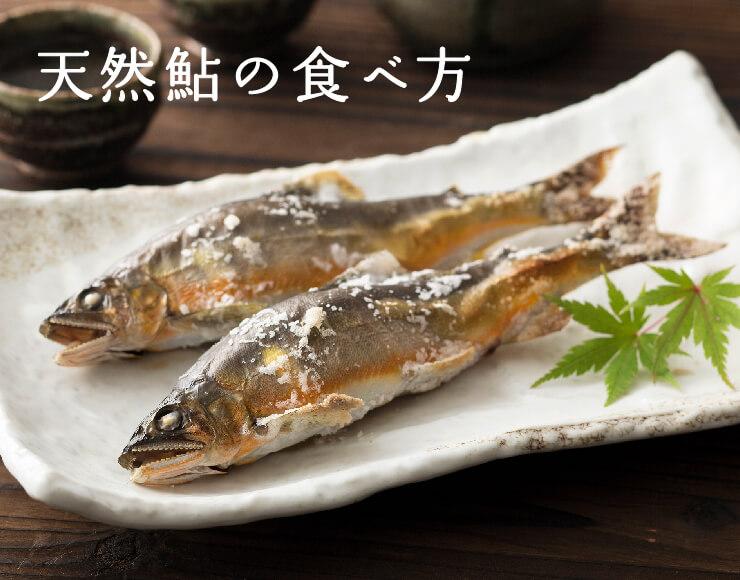 天然鮎の食べ方