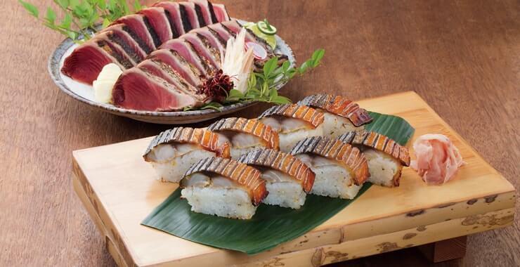 鰹たたき・焼き鯖すしセット