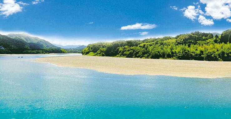 日本一綺麗な河川の伏流水